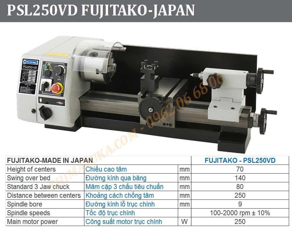 Fujitako lathe, Fujitako Miller Japan Mini Lathe, Japan Desk Lathe